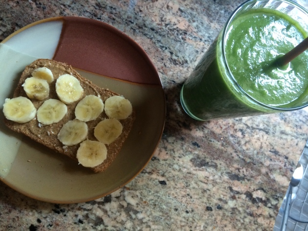 Green Smoothie and Almond Butter